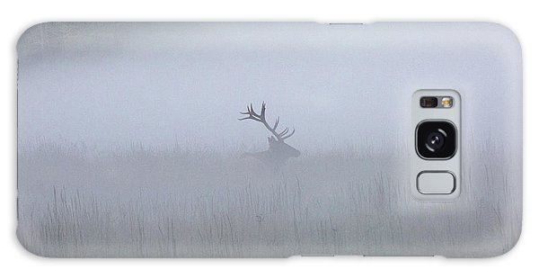 Bull Elk In Fog - September 30, 2016 Galaxy Case