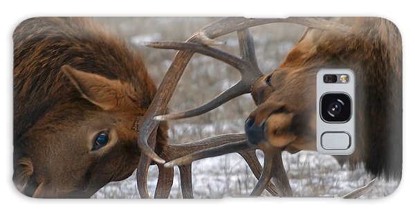Bull Elk In The Rut-signed Galaxy Case