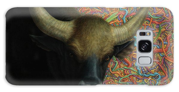 Bull Galaxy Case - Bull In A Plastic Shop by James W Johnson