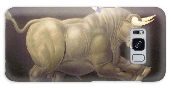 bull painting Botero Galaxy Case