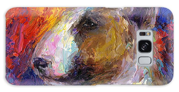 Bull Terrier Dog Painting Galaxy Case