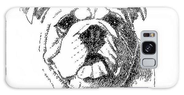 Bulldog-portrait-drawing Galaxy Case