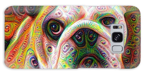 Bulldog Surreal Deep Dream Image Galaxy Case
