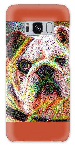 Bulldog Surreal Deep Dream Image Galaxy Case