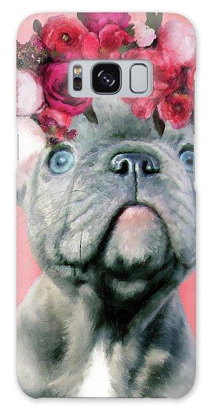 Bulldog With Flowers Galaxy Case