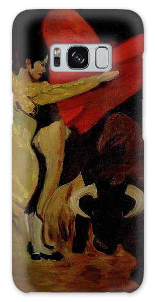 Bullfighter By Mary Krupa Galaxy Case by Bernadette Krupa