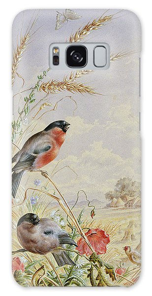 Bullfinches In A Harvest Field Galaxy Case