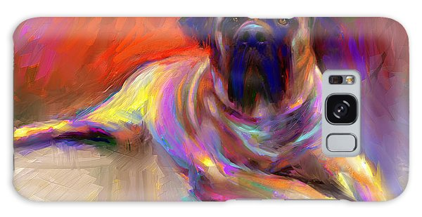 Bullmastiff Dog Painting Galaxy Case