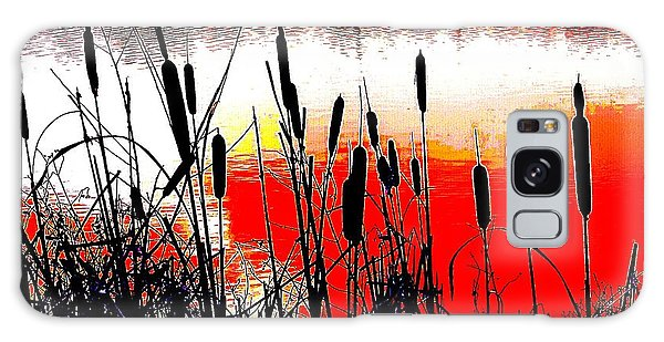 Bullrushes Against The Sunset Galaxy Case