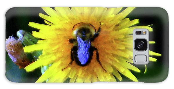 Galaxy Case featuring the photograph Bullseye Bumblebee Dandelion by Rockin Docks Deluxephotos
