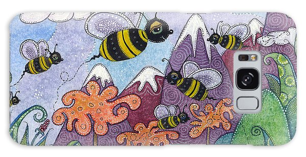 Bumble Bee Buzz Galaxy Case by Tanielle Childers