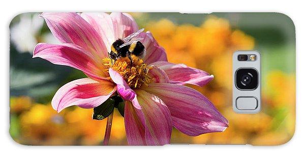 Bumblebee On Orange Galaxy Case