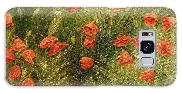 Bunch Of Poppies Galaxy Case