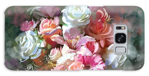Galaxy Case featuring the painting Bunch Of Roses by Tithi Luadthong