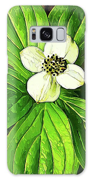 Bunchberry Blossom Galaxy Case