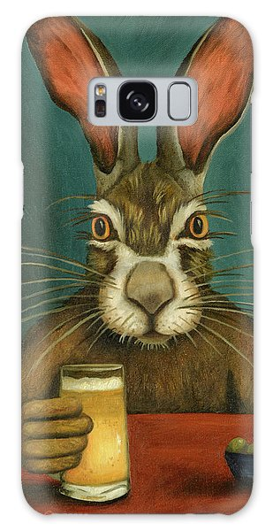Bunny Hops Galaxy Case by Leah Saulnier The Painting Maniac