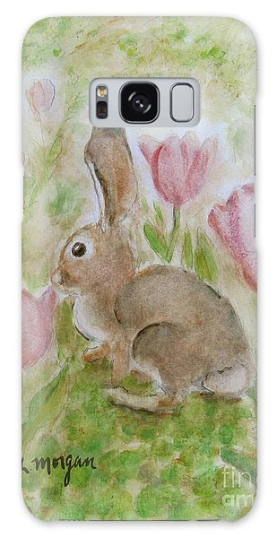 Bunny In The Tulips Galaxy Case