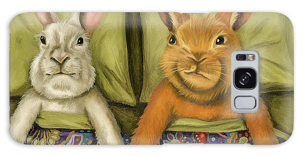 Bunny Love Galaxy Case by Leah Saulnier The Painting Maniac