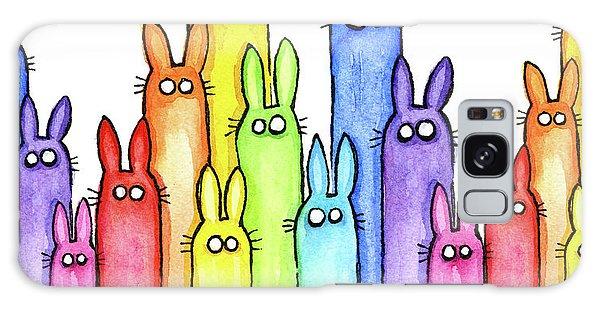 Bunny Rainbow Pattern Galaxy Case