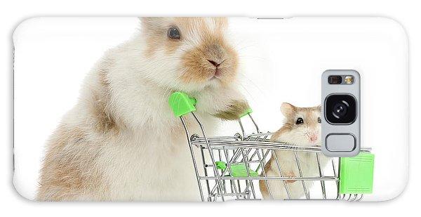 Bunny Shopping Galaxy Case
