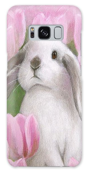 Bunny With Tulips Galaxy Case