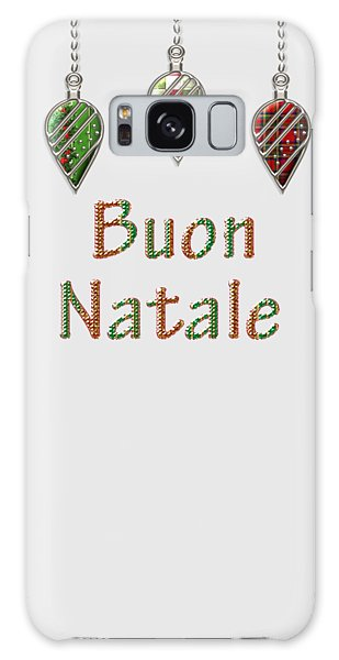 Buon Natale Italian Merry Christmas Galaxy Case