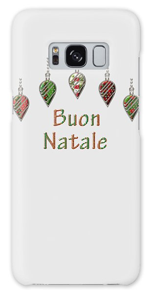 Buon Natale Italian Merry Christmas Galaxy Case