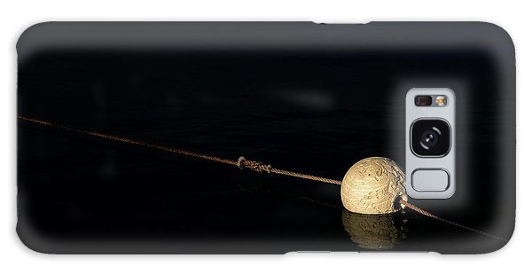Galaxy Case featuring the photograph Buoy At Night by Stephen Mitchell
