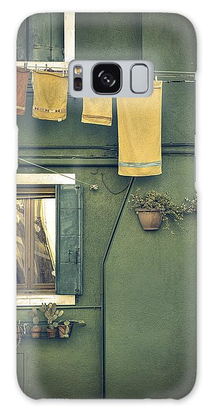 Burano - Green House Galaxy Case
