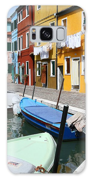 Burano Corner With Laundry Galaxy Case