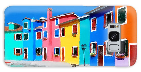 Burano Houses.  Galaxy Case