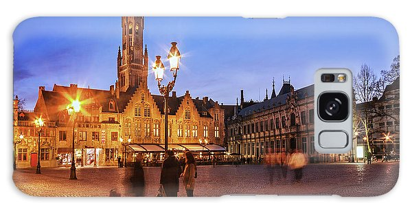 Galaxy Case featuring the photograph Burg Square At Night - Bruges by Barry O Carroll