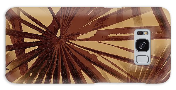 Burgundy And Coffee Tropical Beach Palm Vector Galaxy Case