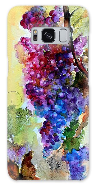 Wine Grapes Burgundy In Sunlight Galaxy Case