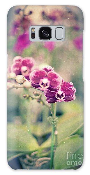 Burgundy Orchids Galaxy Case by Ana V Ramirez
