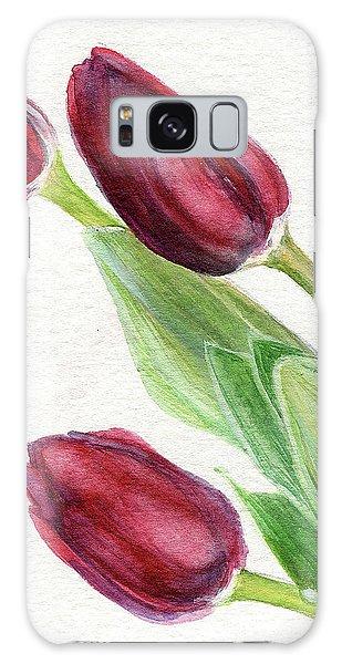Burgundy Tulips Galaxy Case