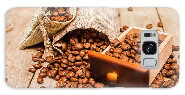 Cafe Galaxy Case - Burlap Bag Of Coffee Beans And Drawer by Jorgo Photography - Wall Art Gallery