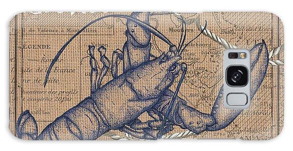 Scientific Illustration Galaxy Case - Burlap Lobster by Debbie DeWitt