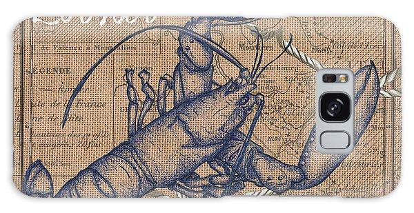 Claws Galaxy Case - Burlap Lobster by Debbie DeWitt