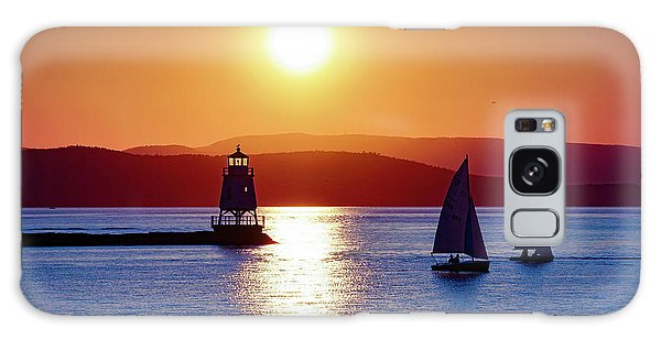 Burlington Breakwater Sunset Galaxy Case