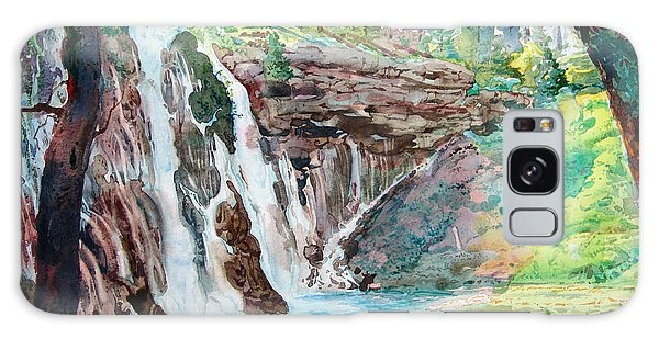 Burney Falls Galaxy Case by John Norman Stewart