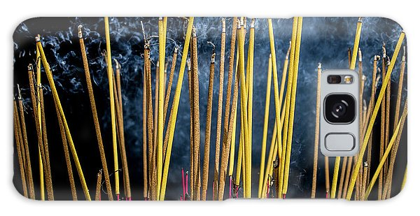 Burning Joss Sticks Galaxy Case
