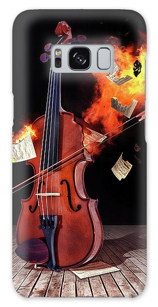 Burning With Music Galaxy Case