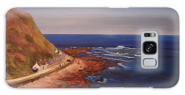 Galaxy Case featuring the painting Burnmouth Scotland by Beatrice Cloake