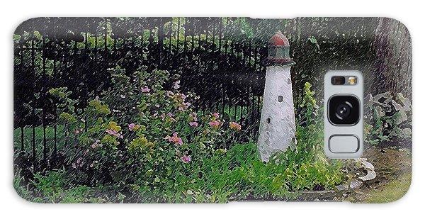 Burnside Garden Lighthouse Galaxy Case by Cedric Hampton