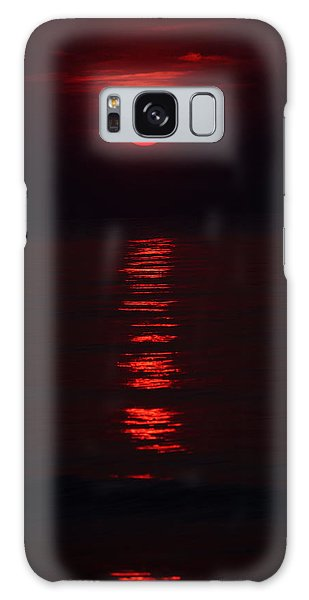 Burnt Orange Sunrise Galaxy Case