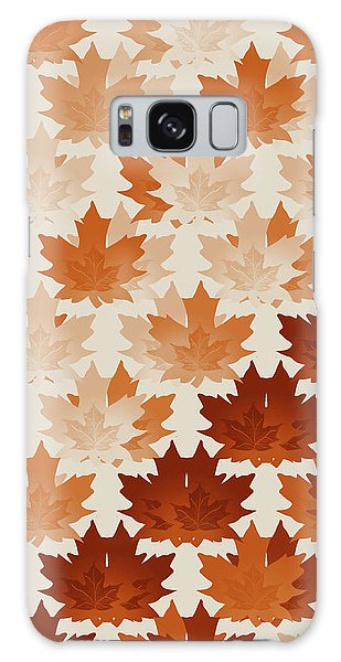 Burnt Sienna Autumn Leaves Galaxy Case by Methune Hively