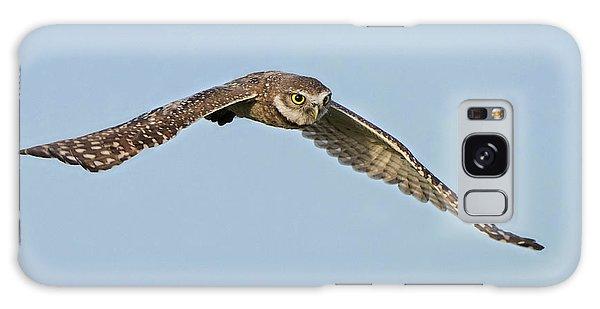 Burrowing Owl In Flight Galaxy Case