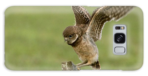 Burrowing Owl - Learning To Fly Galaxy Case by Meg Rousher