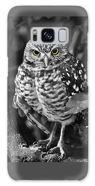 Burrowing Owl  Selective Color Eyes Galaxy Case by Judy Wanamaker